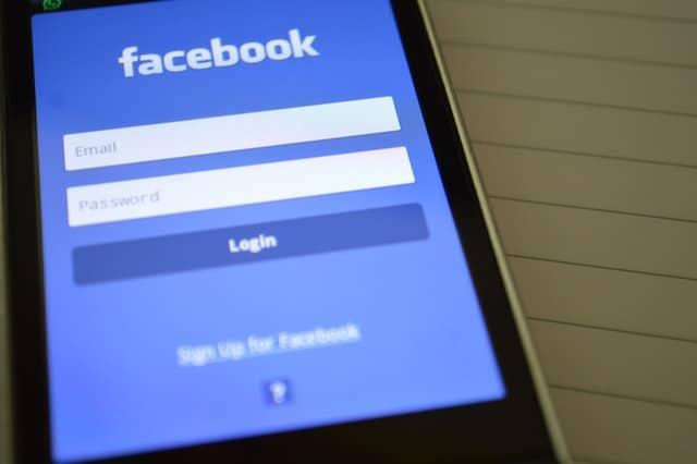 Smart phone with Facebook app open