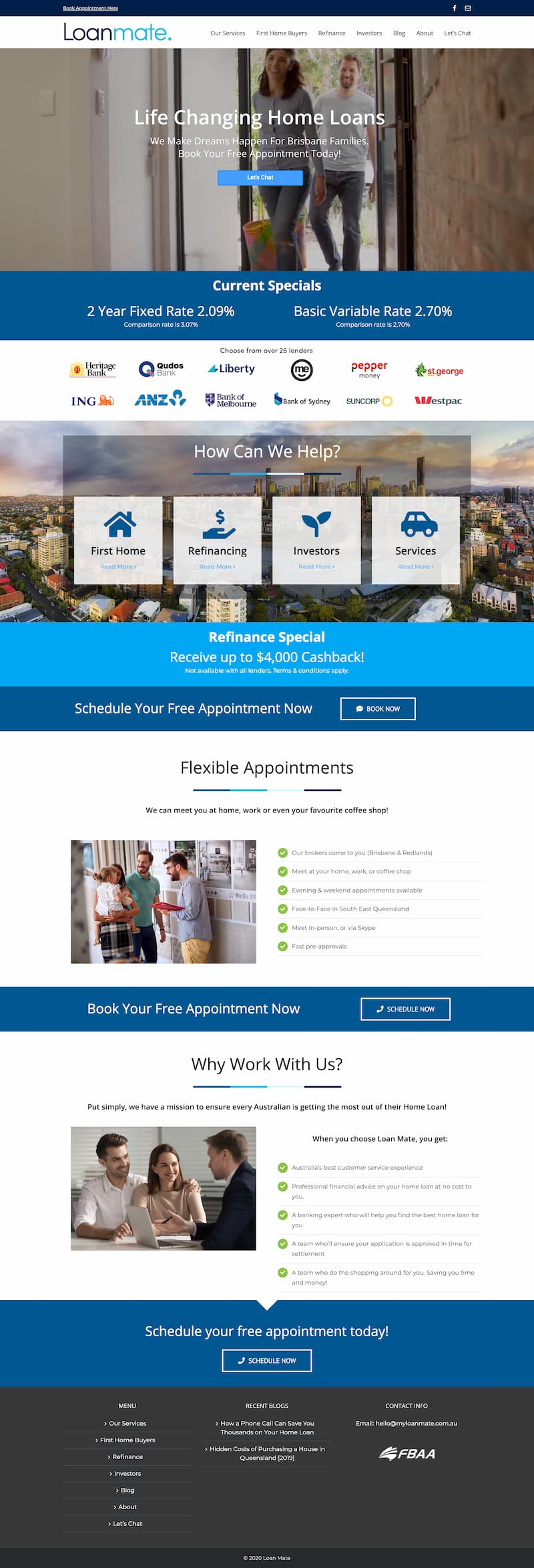 Website for a mortgage broker