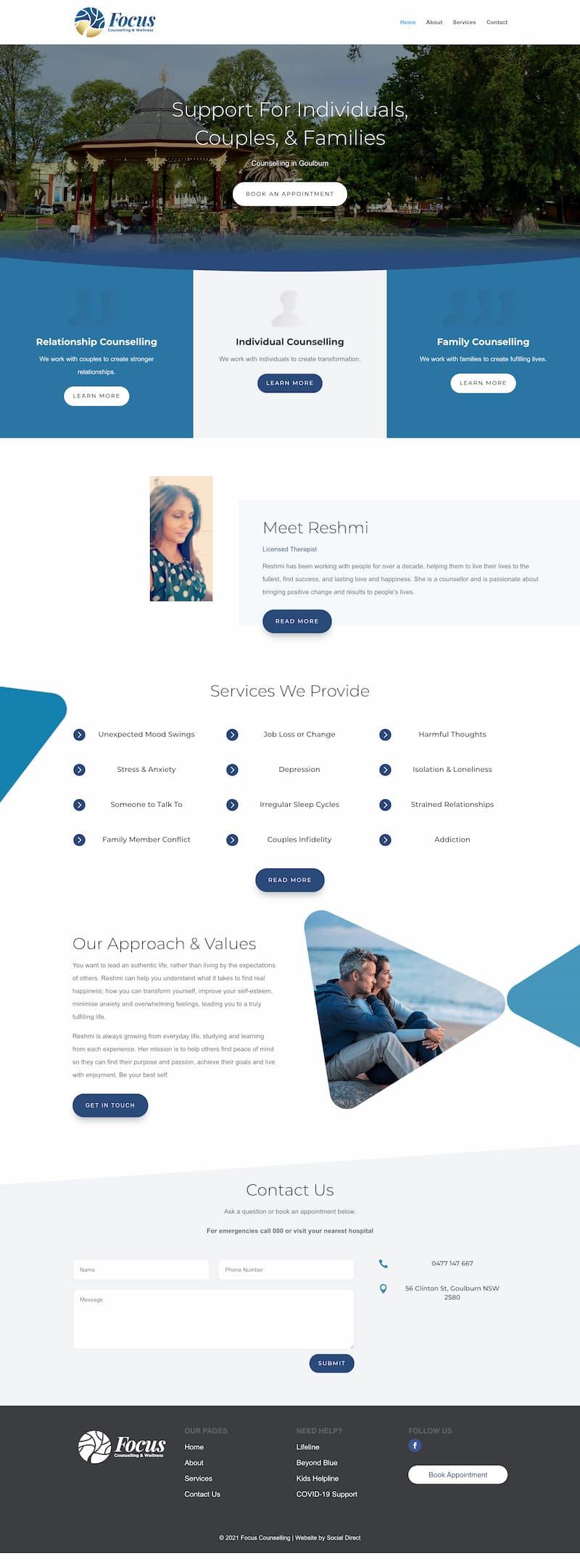 Website for a Psychologist in Canberra
