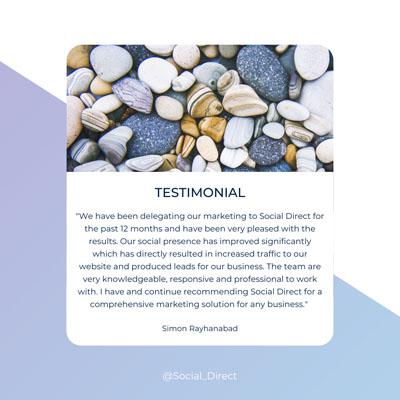 Testimonial for a Brisbane digital marketing agency
